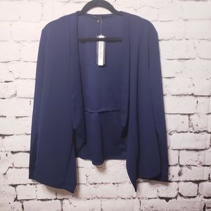Sweaters - Plus Size Navy blue cardigan